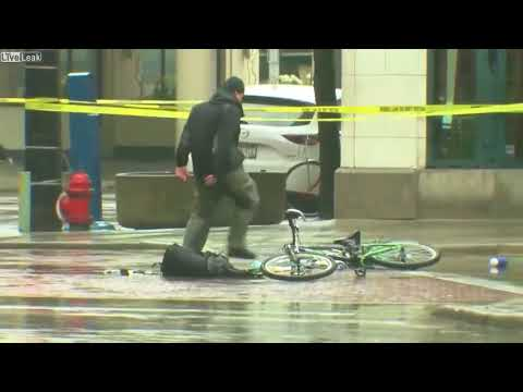 Cyclist Tired of Waiting for Bomb Squad