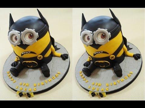 How To Make A Minion Batman Cake