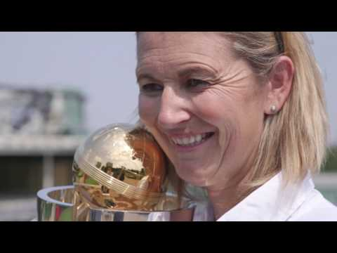 ICC Women's World Cup: Charlotte Edwards visits All England Tennis club