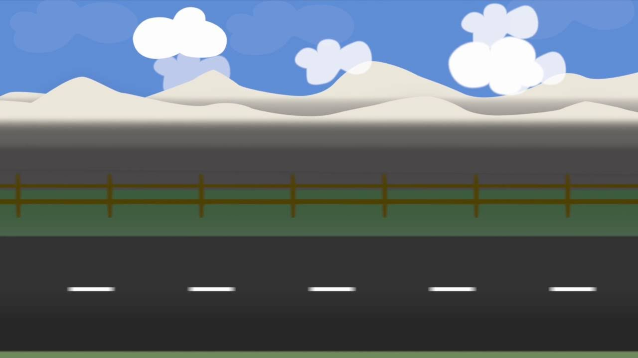Cartoon Side Scrolling Road Scene Made in Motion 5 - YouTube
