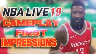 NBA Live 19 Gameplay Impressions - Live 19 First Look Gameplay!