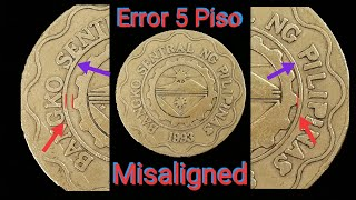 5 Piso | Hard to Find | Anung year ang may misaligned na Error