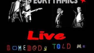 Eurythmics Somebody Told Me Live 1983 UK