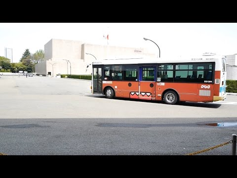 Front view of KEIO-Bus direct Shibuya Station ~ NHK Studio Park (Domo wrapping vehicle)