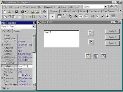 27 Текстовый редактор Настройка формы и размещение компонентов