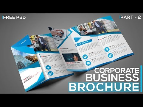 Corporate Tri Fold Business Brochure in Photoshop | Part 2