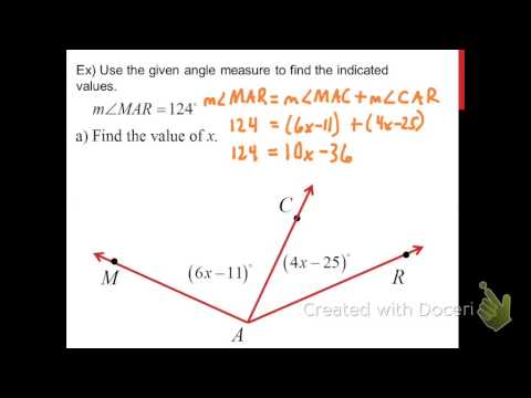 Angle Addition Postulate And Angle Bisectors