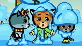 Развивающие мультики - КОТЯТКИНЫ ИСТОРИИ - Правила зимы - Песни для детей (Три котенка, новые серии)