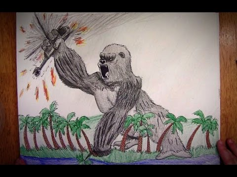 How To Draw King Kong Youtube