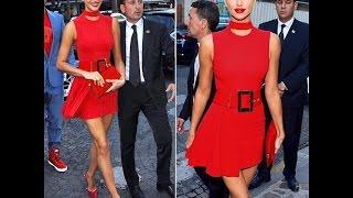 Ирина Шейк покорила публику красным нарядом