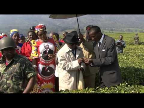 Michael Usi as President Hastings Kamuzu Banda
