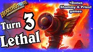 Turn 3 Lethal ~ Hearthstone Heroes of Warcraft Blackrock Mountain ~ Shaman Decklist