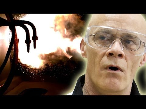 Aluminium Powder Ignites in Slow Motion - Periodic Table of Videos