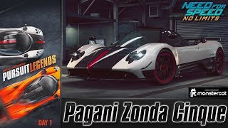 Need For Speed No Limits: Pagani Zonda Cinque | Pursuit Legends (Day 1 - Emergence)