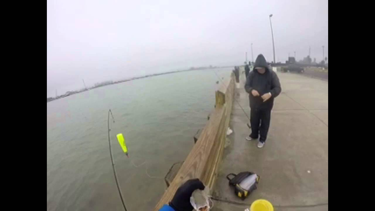 Episode 2 ty goes to galveston fishing seawolf park for Galveston fishing report seawolf park