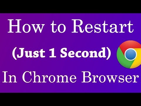how to restart your google chrome browser (Just 1 second) - 2017