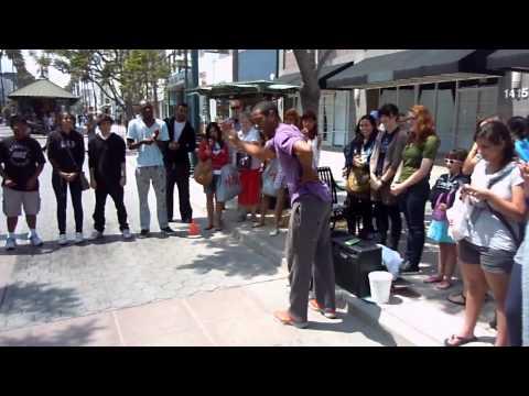 Eric Nash blows up Third Street Promenade in Santa Monica