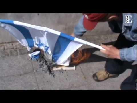 Flaga Izraela PŁONIE !! (10.09.12)