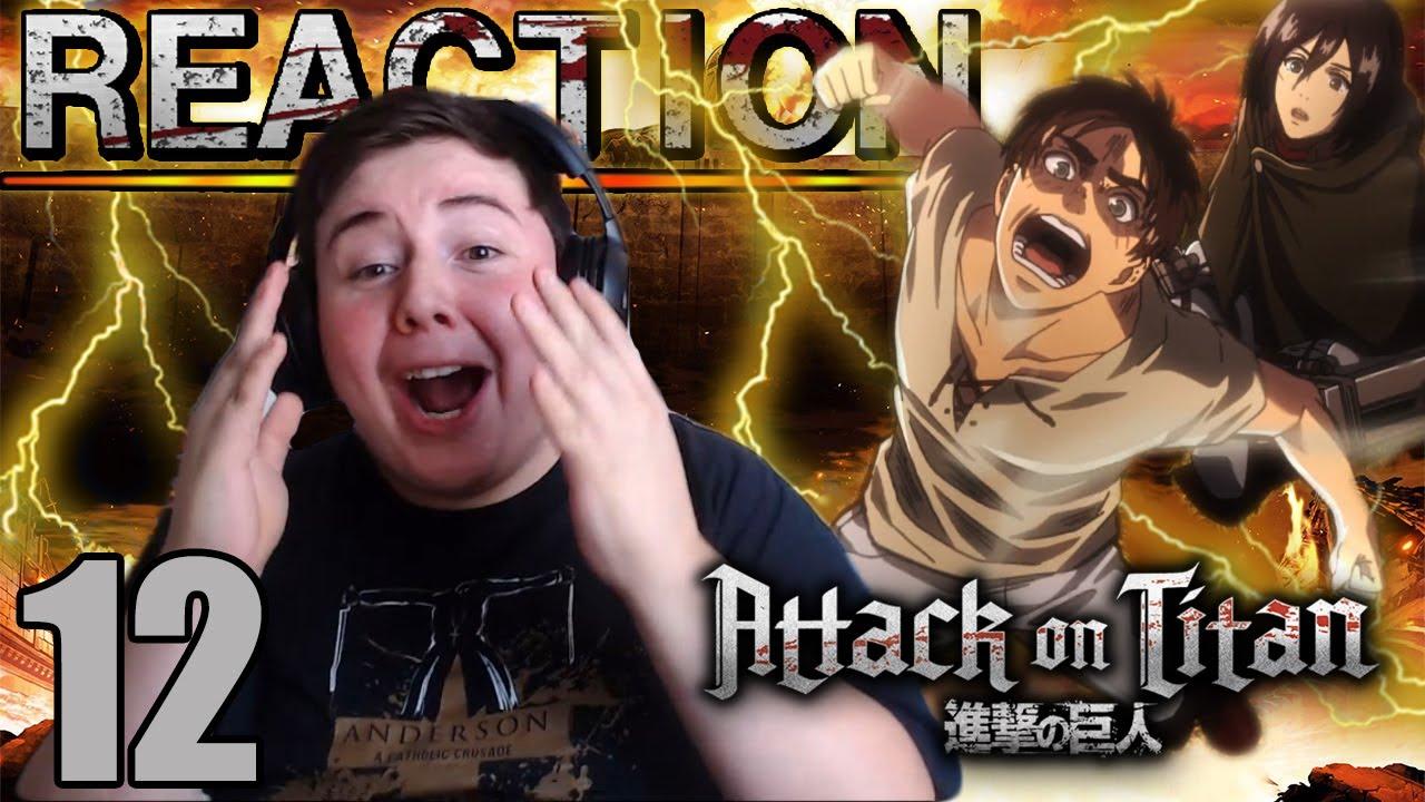 Attack on Titan Season 2 - Episode 12 FINALE SUB REACTION FULL LENGTH - YouTube