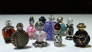 Dollhouse Miniature Beaded Cologne or Perfume Bottles & Nail Polish
