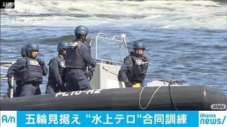 東京五輪に向け・・・臨海部でのテロを想定した訓練(19/08/07)