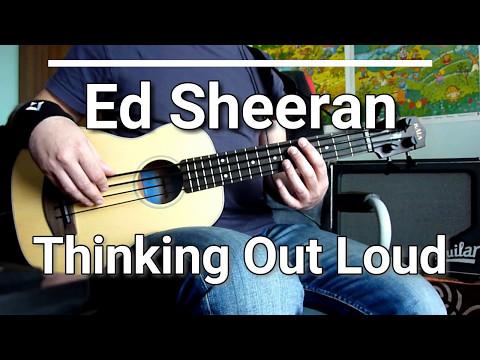 Ed Sheeran - Thinking Out Loud [TABS] ukulele bass cover 🎸