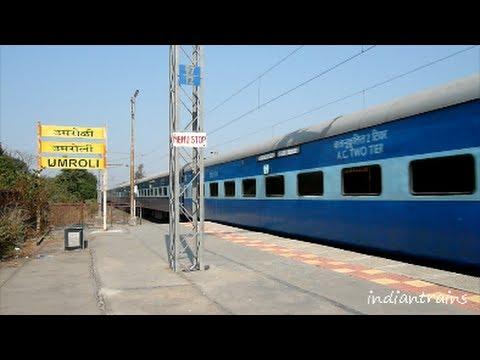 indiantrains@ fantastic speed of indian railways express train/scenic umroli station, thane, india