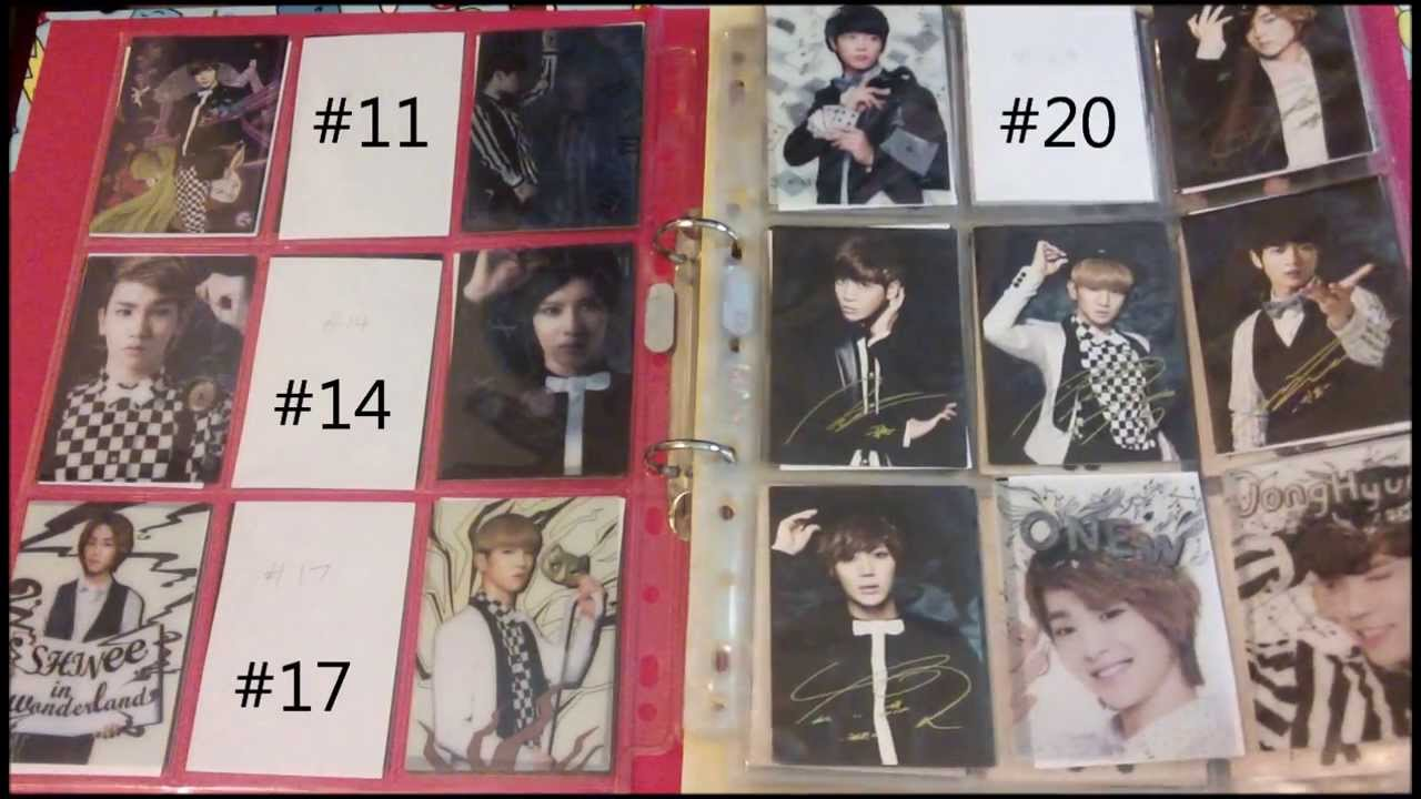 SHINee in wonderland star collection cards update video ...