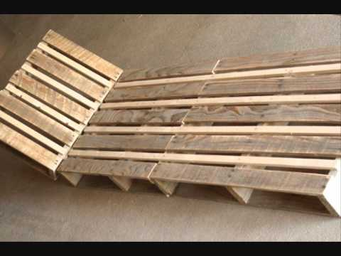 Fabriquer une chaise longue design en palette youtube for Chaise de jardin en palette
