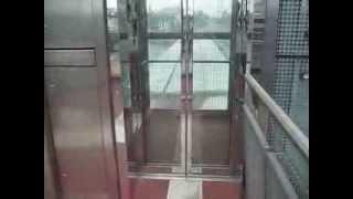 Osma scenic traction elevator at a pedestrian bridge in Bremerhaven