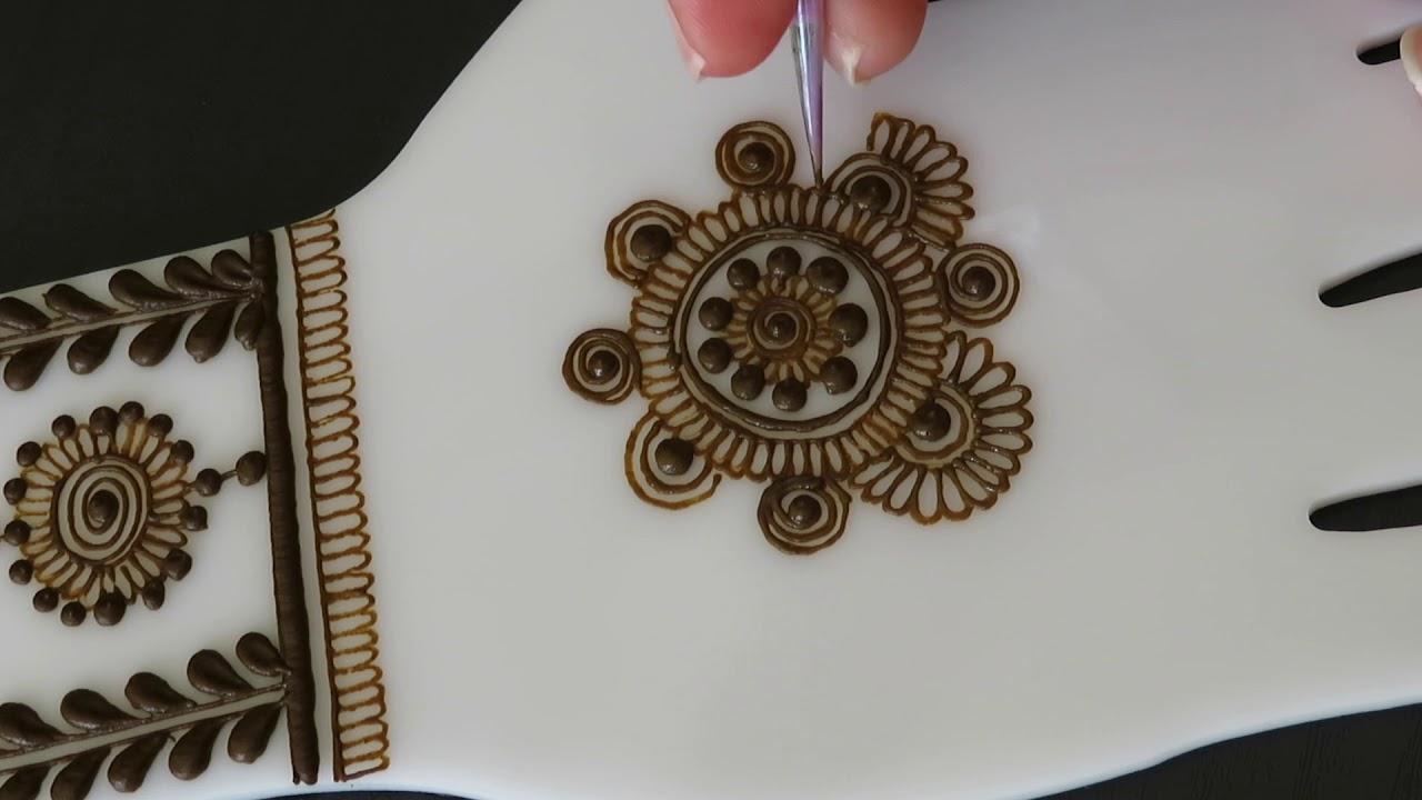 Henna Mandala For The Hand Youtube