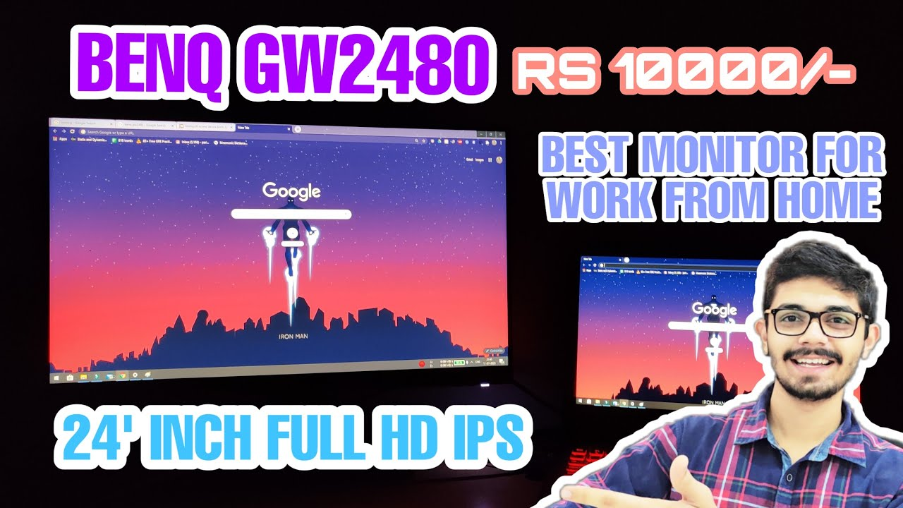(HINDI)BENQ GW2480 MONITOR REVIEW | WITH GAME TEST - YouTube