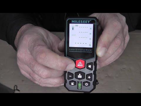 Лазерная рулетка MILESEEY X5 с Alixpress.  Небольшая распаковка, обзор функций и тест дальномера
