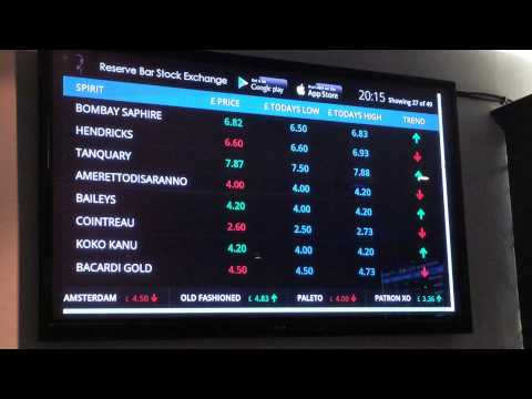 The real-time drinks market at Reserve Bar Stock Exchange in London