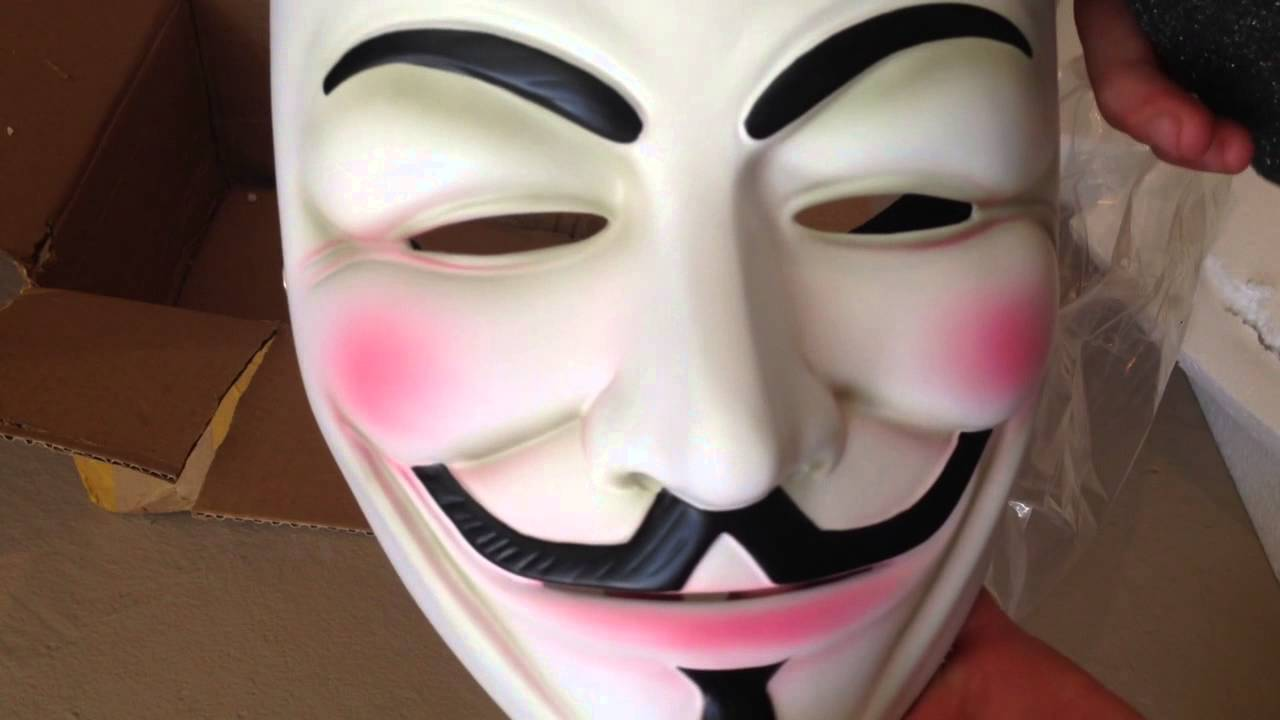 Guy fawkes mask unboxing hard resin anonymous m youtube