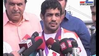 Sushil Kumar, wrestler, India - Sushil elated after wining Silver at Olympics