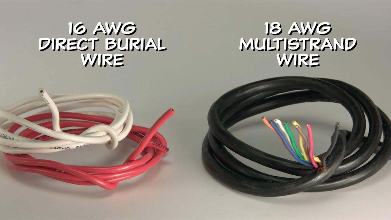 Choosing Sprinkler Wire Youtube