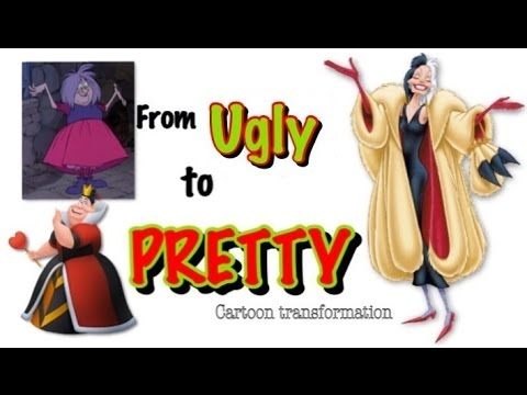 From UGLY to PRETTY Cartoon Characters (Villains) transformation