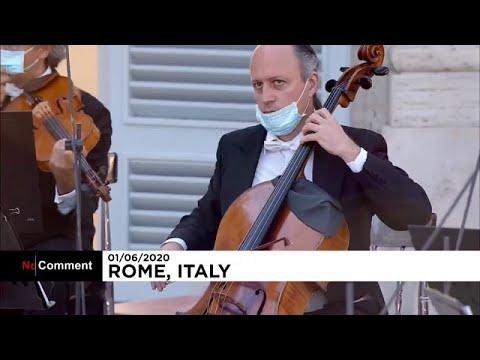 شاهد.. حفل موسيقي في إيطاليا على أرواح ضحايا فيروس كورونا…  - نشر قبل 7 ساعة