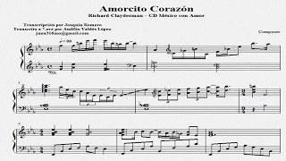 """Partitura """"Amorcito Corazón"""" de Richard Clayderman"""
