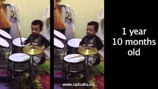 prodigy drummer baby 1 year old amazing