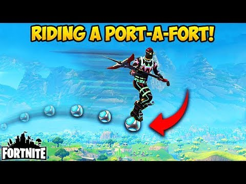 FIRST EVER PORT-A-FORT RIDE! - Fortnite Funny Fails and WTF Moments! #186 (Daily Moments)