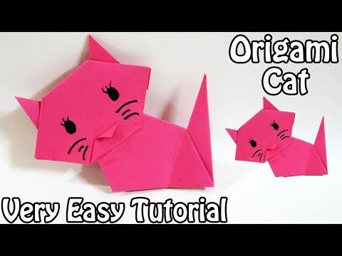 How to make Origami Cat | Easy Origami Cat Tutorial (2018)