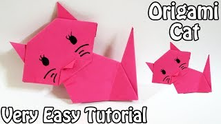 How to make Origami Cat | Easy Origami Cat Tutorial (2018)