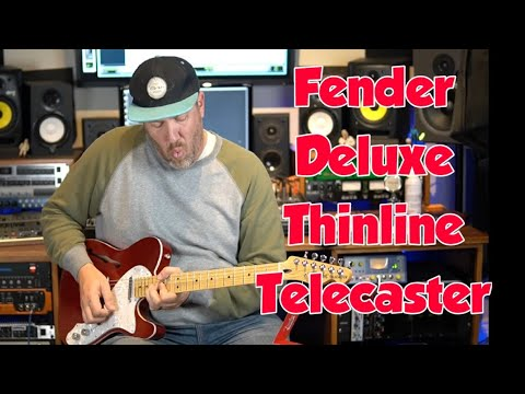 Fender Deluxe Thinline Telecaster - Candy Apple Red