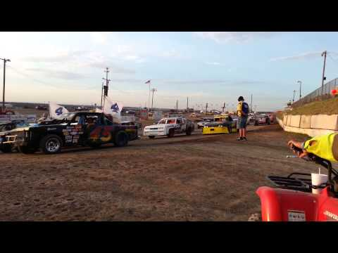 Memorial laps at Texas Thunder Speedway