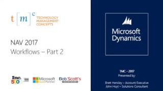 Microsoft Dynamics NAV 2017 - Workflows Part 2/2