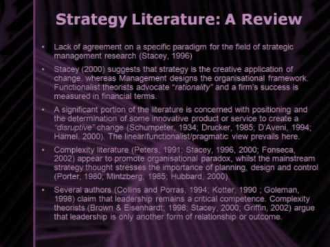 Understanding Strategy though Complexity Theory