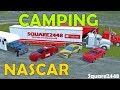 Farming Simulator 17 | Camping At Race Track | NASCAR | Drag Racing | Car Haulers | Multiplayer