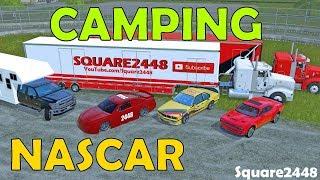 Farming Simulator 17 | Camping At Race Track | NASCAR | Drag Racing | Car Haulers | Multiplayer